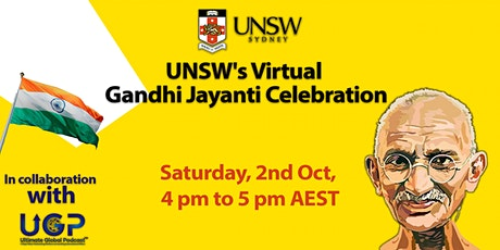 UNSW's Virtual  Gandhi Jayanti Celebration tickets