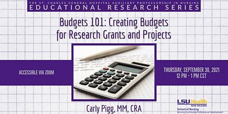 Budgets 101: Creating Budgets for Research Grants and Projects tickets