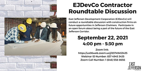 East Jefferson Development Corp. (EJDevCo) Contractor Roundtable Discussion tickets