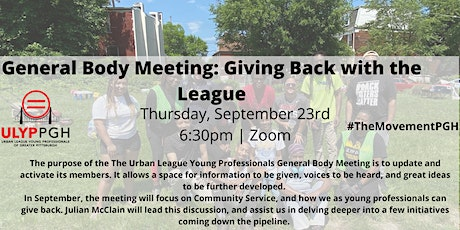 ULYP Monthly Meeting: Giving Back with the League tickets