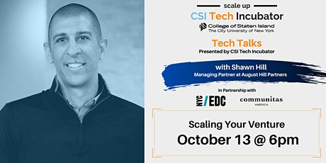 Tech Talks | Shawn Hill | Scaling Your Venture tickets
