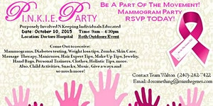 D.C.H Community  P.I.N.K.I.E. PARTY (Mammogram Party)
