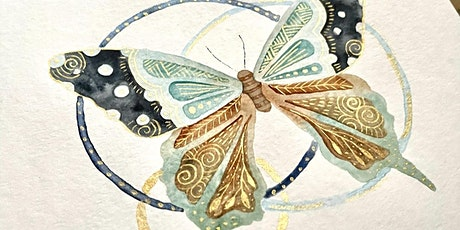 """""""Wingscapes!"""" - A Zentangle® inspired Watercolor Workshop tickets"""