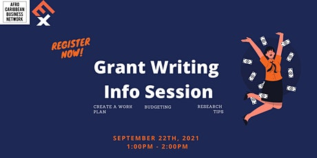 Grant Writing Info Sessions tickets