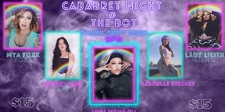 Cabaret Night at The Bot tickets