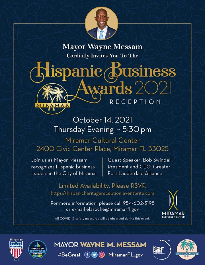 Hispanic Business Awards 2021 Reception Hosted by Mayor Messam image
