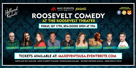 ROOSEVELT COMEDY -LIVE STAND UP SHOW 9/17 tickets