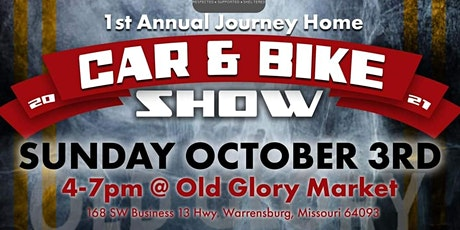 Journey Home 1st Annual Car and Bike Show tickets
