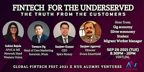 Fintech for the Underserved: The Truth from the Customers (Panel Interview) tickets