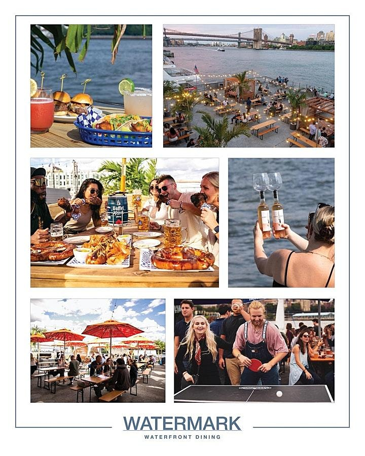 """SUNDAY """"WATERFRONT BRUNCH"""" & SUNSETS @ WATERMARK - PIER 15 NYC image"""