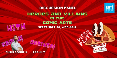 Heroes and Villains in the Comic Arts Discussion Panel tickets