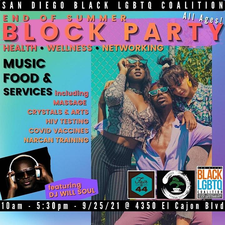 Black LGBTQ+ End of Summer Block Party & Wellness Fair! ✨ image