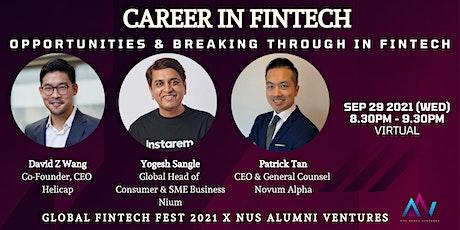 Career in FinTech (Panel Interview) tickets