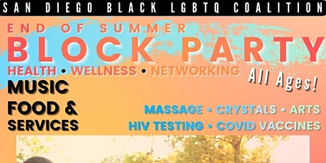 Black LGBTQ+ End of Summer Block Party & Wellness Fair! ✨ tickets