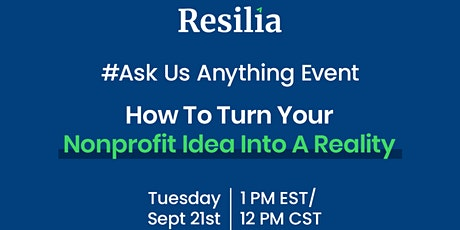 #AskUsAnything: How to Turn Your Nonprofit Idea Into a Reality tickets