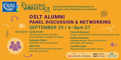 OSLT Alumni - Panel Discussion & Networking tickets
