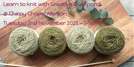 Learn to knit with Creative Duckpond tickets