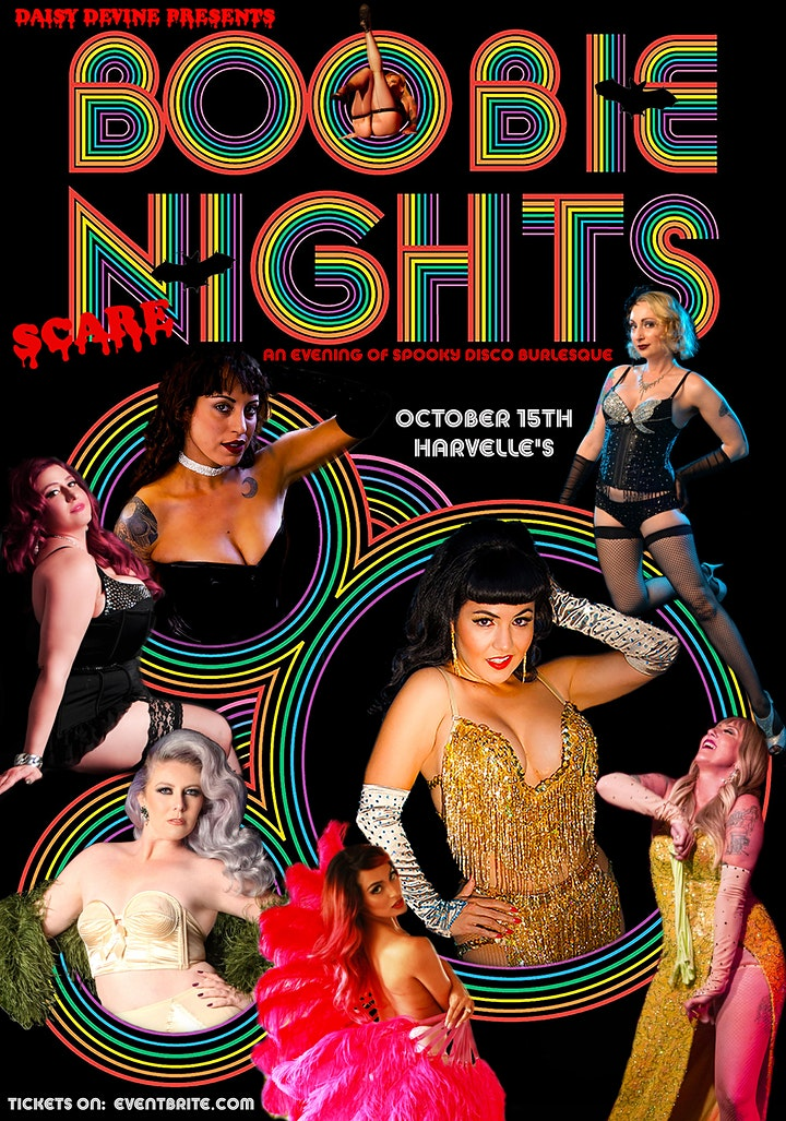 """""""Boobie Nights ~ Scare"""" An Evening of Disco Burlesque, with a spooky twist! image"""