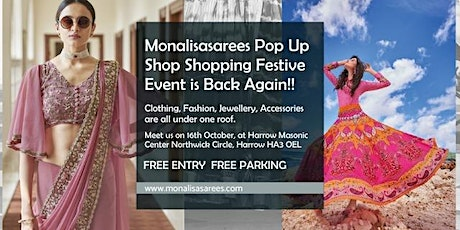 Monalisasarees Festive Pop Up shop Shopping Event tickets
