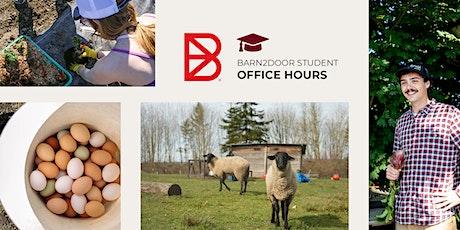 Barn2Door Student Office Hours tickets