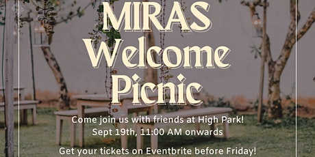 MIRAS Welcome Picnic tickets