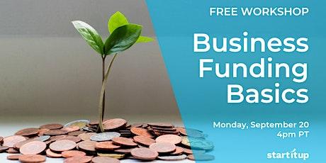 Workshop: Business Funding Basics tickets