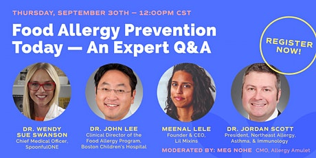 Food Allergy Prevention Today—An Expert Q&A tickets