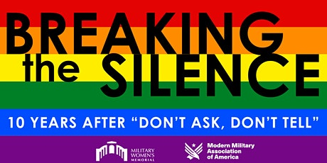 """Breaking the Silence: 10 Years After """"Don't Ask, Don't Tell"""" tickets"""