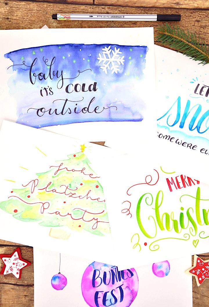 Aquarellfarben - Weihnachts Karten - Fesch'markt Wien: Bild