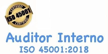 Curso Auditor Interno ISO 45001:2018 entradas