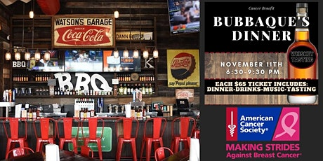 BubbaQue's Dinner Benefit for American Cancer Society tickets