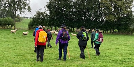 Moderate/Hard  9-10 mile Guided  Walk starting & finishing in Hay-on-Wye tickets