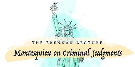 Montesquieu on Criminal Judgments tickets