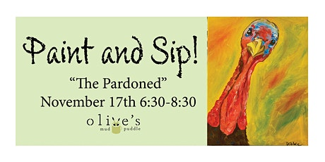 """""""The Pardoned"""" Paint and Sip tickets"""