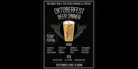 Beer Dinner: True Respite Brewing Co. & The Comus Inn tickets