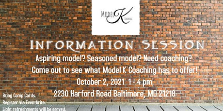 Model K Coaching ***FREE INFORMATION SESSION*** tickets