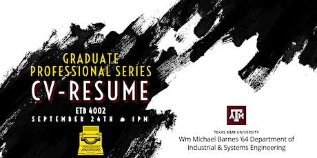 Professional Series: CV-Resume Workshop tickets