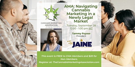 AMA: Navigating Cannabis Marketing in a Newly Legal Market tickets