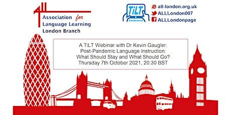 A TiLT Webinar with Dr Kevin Gaugler tickets