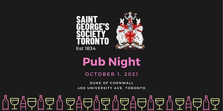 St. George's Society Toronto Pub Night tickets
