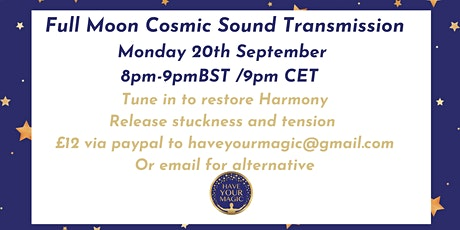 SOUND HEALING - Full Moon Release tickets