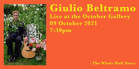 Giulio Beltramo Live at  The October Gallery | London Live Music Concert | tickets