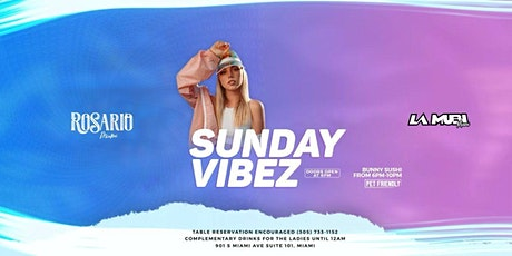 Sunday Vibez Bunny Suhi | Rosario Miami entradas