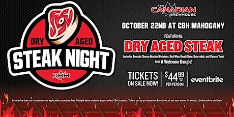 Dry Aged Steak Night (Calgary - Mahogany) tickets
