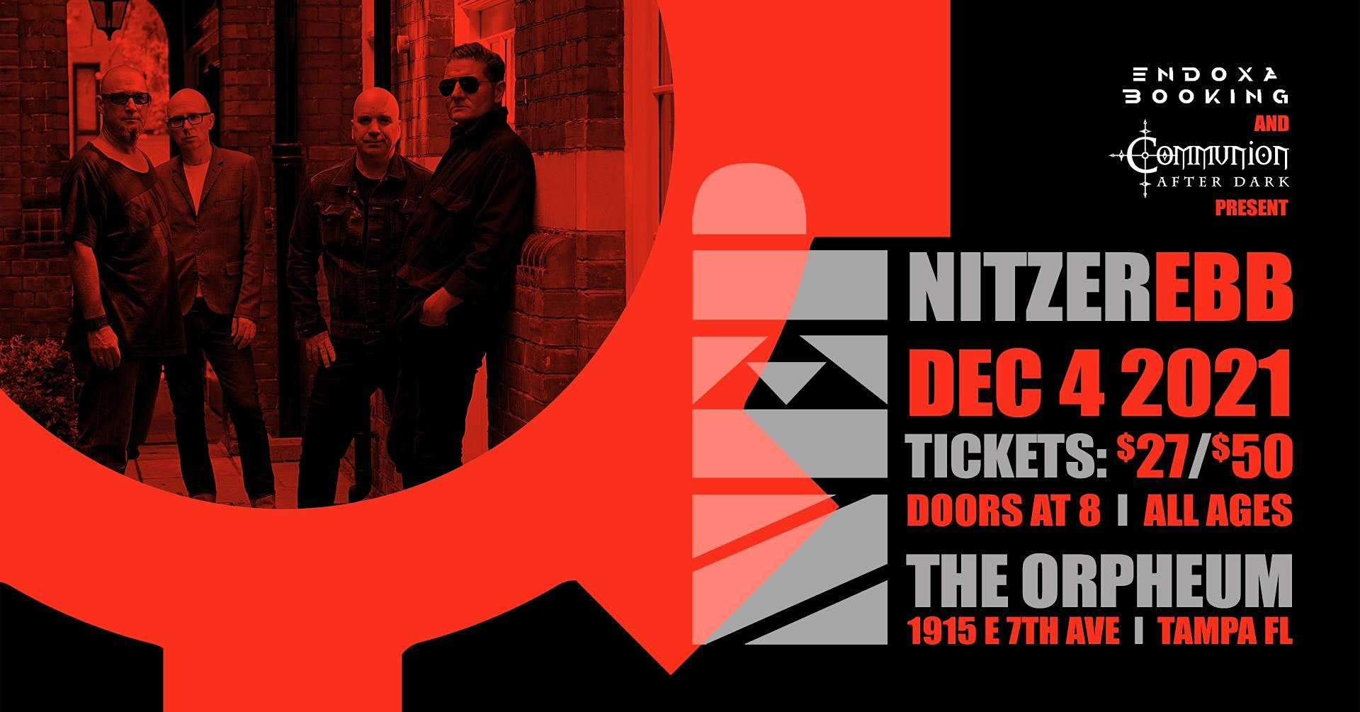 Nitzer Ebb in Tampa at the Orpheum