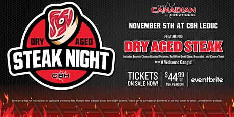 Dry Aged Steak Night (Leduc) tickets