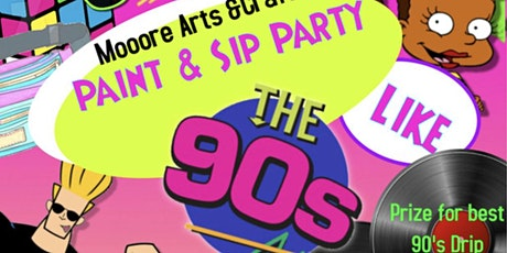 90's paint & sip tickets