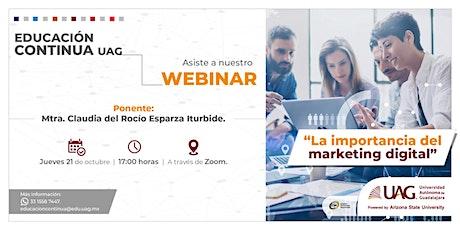 Webinar: La importancia del Marketing digital entradas