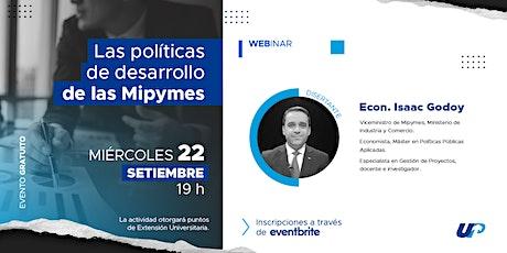"""""""Las Políticas de desarrollo de las Mipymes"""" tickets"""