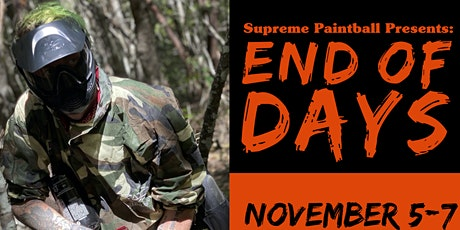 End of Days Paintball Scenario Game tickets